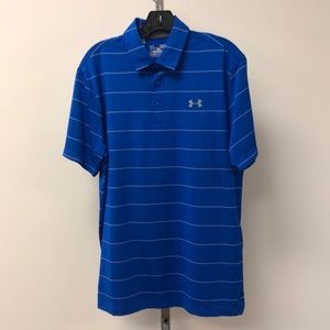 NWT Under Armour Men's Medium Blue Polo Shirt